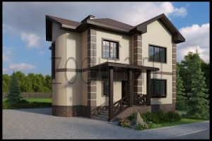 Проект дома с эркером 158м2