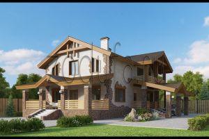 Проект дома с мансардой 274м2