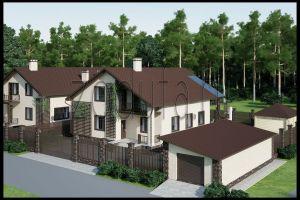 Проект дома на две семьи 215 м2 и 255 м2