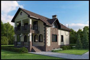 Дом с террасой 218м2