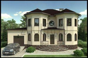 Проект дома с двумя эркерами 250 м2