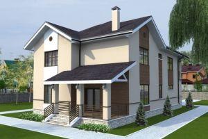 Дом со встроенным гаражом и террасой 232 м2