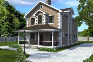 Двухэтажный дом в классическом стиле 149 м2