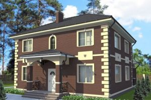 Двухэтажный дом 11 на 10 197 м2