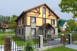 Двухэтажный дом с мансардой 199 м2