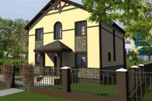 Двухэтажный дом с терассой 139 м2