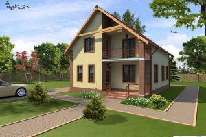 Жилой дом с гаражом и террасой 135 м2