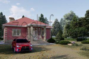 Проект одноэтажного дома с удобной планировкой 113м2