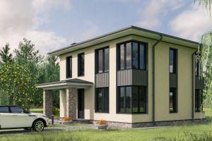 Дом правильной формы 144 м2