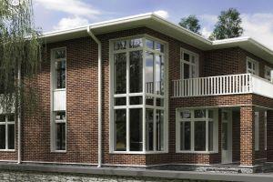 Дом с панорамными окнами 129 м2