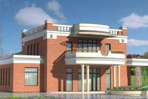 Проект дома с колонами 320 м2
