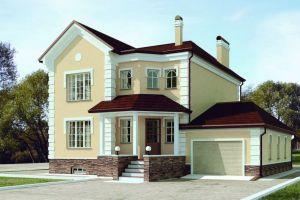 Проект двухэтажного дома 276 м2