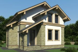 Одноэтажный дом 130 м2