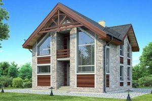 Одноэтажный дом с мансардой 109 м2