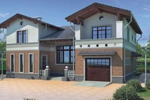 Одноэтажный дом с мансардой 249 м2