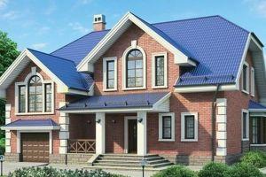 Одноэтажный дом с мансардой 254 м2