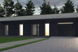 Проект одноэтажного коттеджа 162 м2