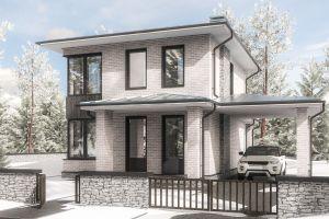 Стильный каменный дом 109 м2
