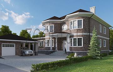 Дом с панорамными окнами 332м2