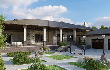Проект коттеджа Вилла с террасой 400 м2