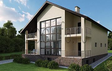 Проект загородного дома со вторым светом 306м2