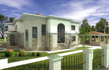 Проект дома с бассейном п.Нагаево
