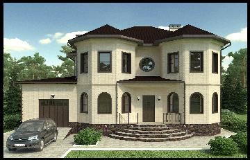 Проект частного дома 250 м2 Чесноковка